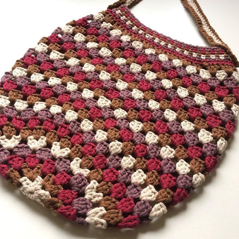 Granny Market Bag  Crochet pattern image 0
