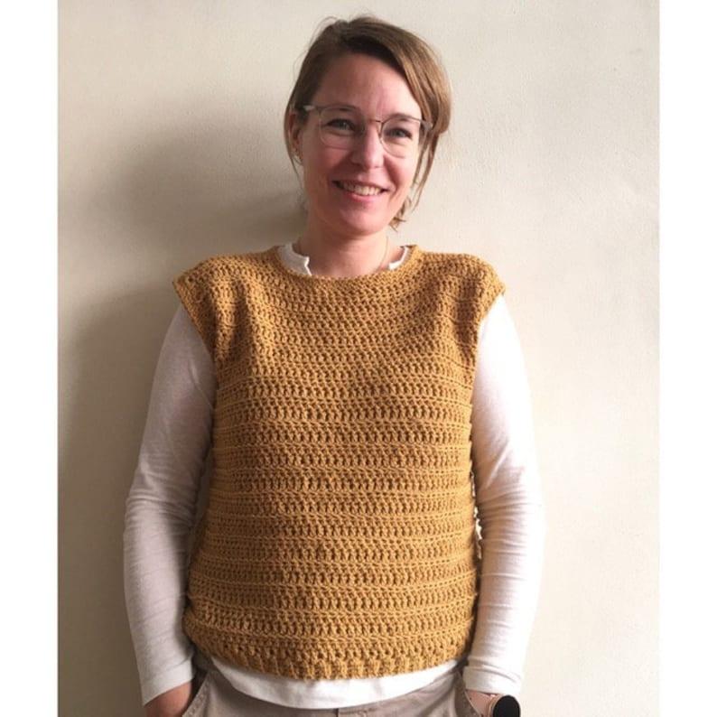 Bud spencer slipover / vest  crochet pattern image 0