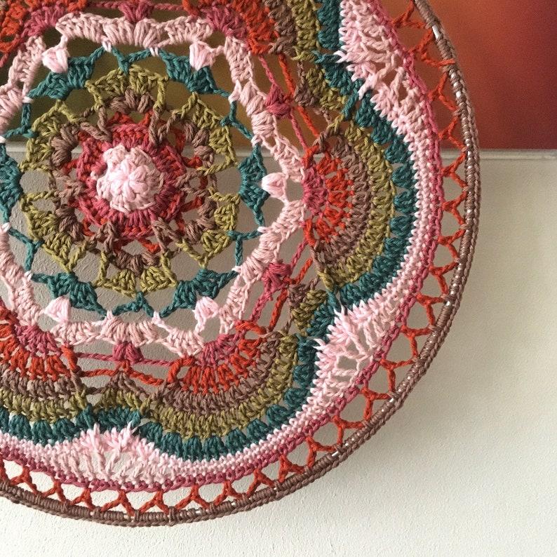 Bright star mandala  crochet pattern image 0