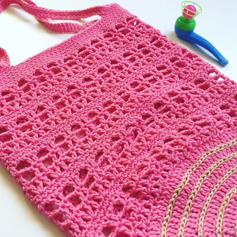 Candy Cane Market Bag Crochet pattern image 0