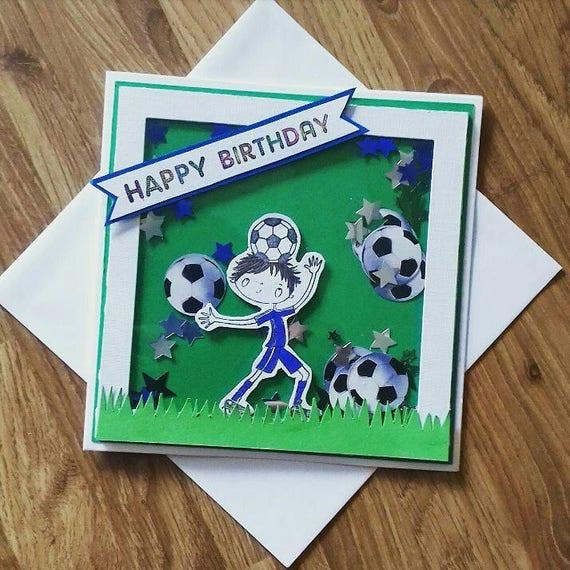 Geburtstagskarte Fussball Jungen Footy Karte Jungen Alles Gute Zum Geburtstagskarte Junge Geburtstagskarte Footy Ventilator Karte