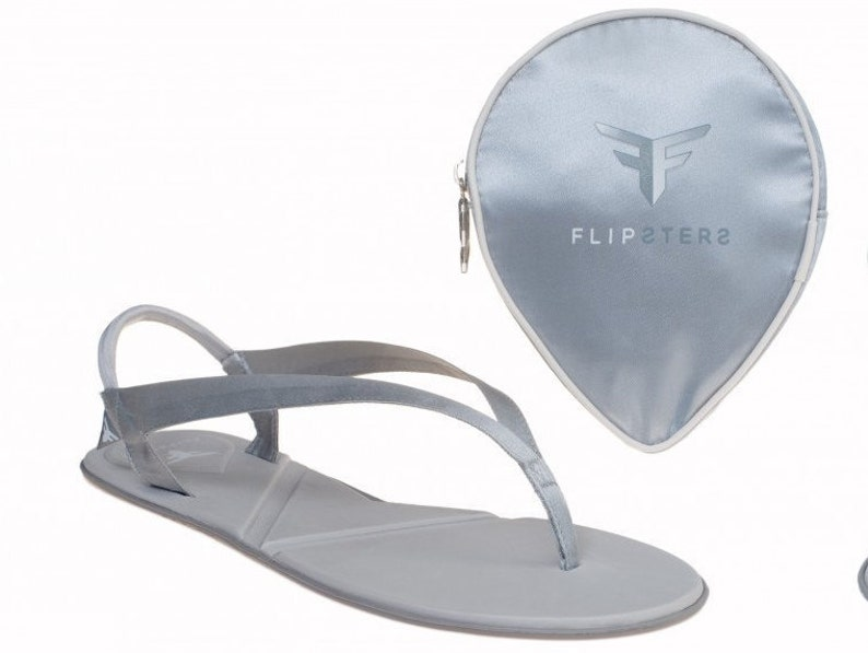 a4da4937943633 Silver Flip flops wedding shoes Bridesmaid Gift Ballet