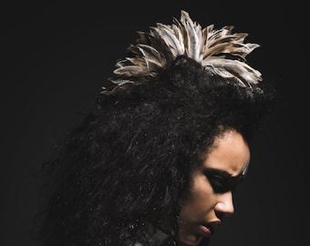 Feather headdress Headpiece Feathers Iroquois head jewelry photo shoots Hell