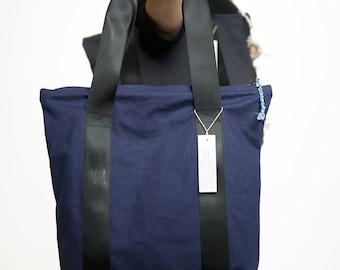 Shopper bag k'smet upcyling&bio Canvas No 329 blue blue bag