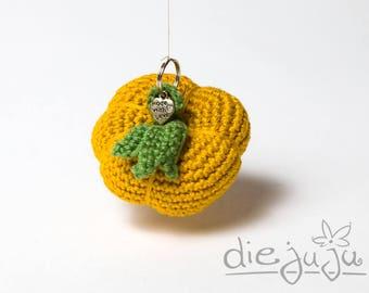 Key chain pumpkin pumpkin crochet senffarben crochet