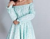 Flower Dress for woman Mint