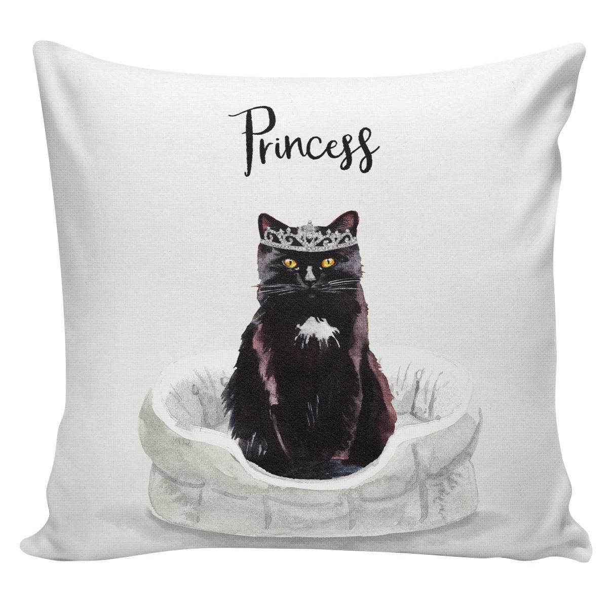 or custom color Custom natural burlap dog//cat paw print BLACK pillow cover