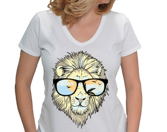 Leon t-shirt, woman's leon t-shirt, leon gift, leon for her, t-shirt with print leon, womens t-shirt for leon, animal t-shirt