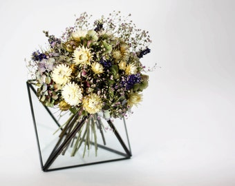 Lilac Love Bridal Bouquet / Posy | Purple, Cream, Green | Wedding flowers | Dried Flowers | Handmade