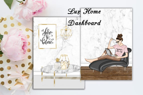 Lux home travelers notebook dashboard skin tone options etsy