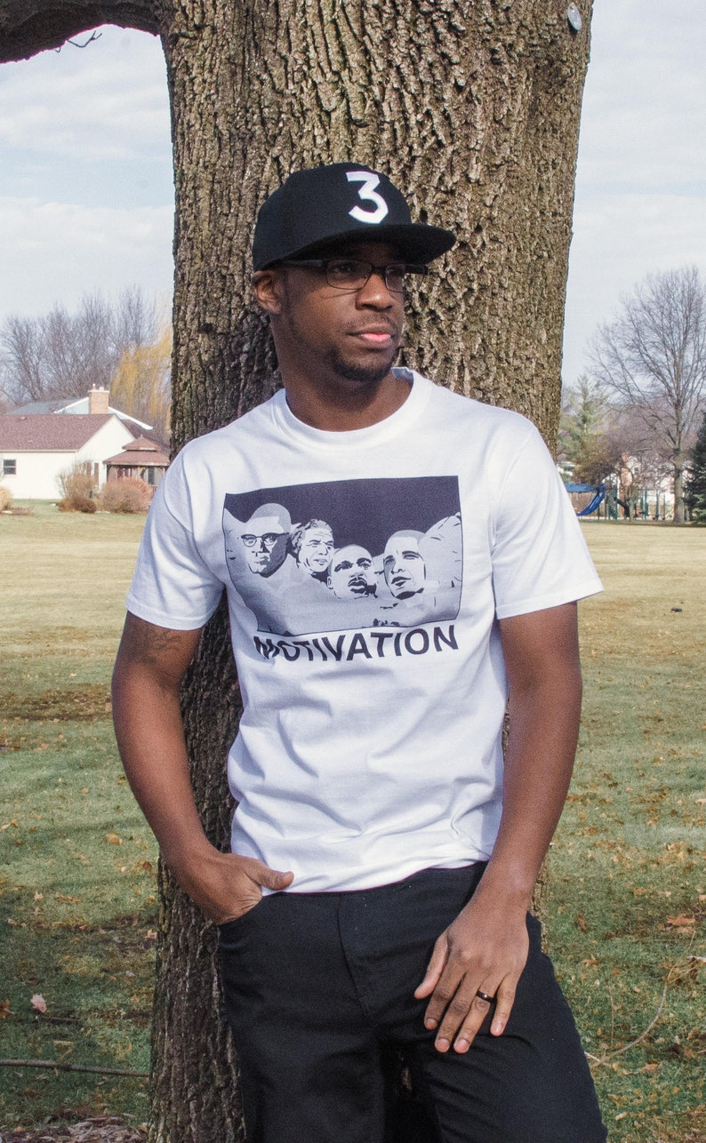 Black Mount Rushmore T-shirt. Black History. Motivation image 0