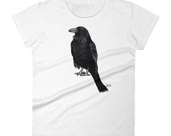466eb5f6 Crow t shirt   Etsy