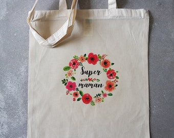 Tote bag mum flower