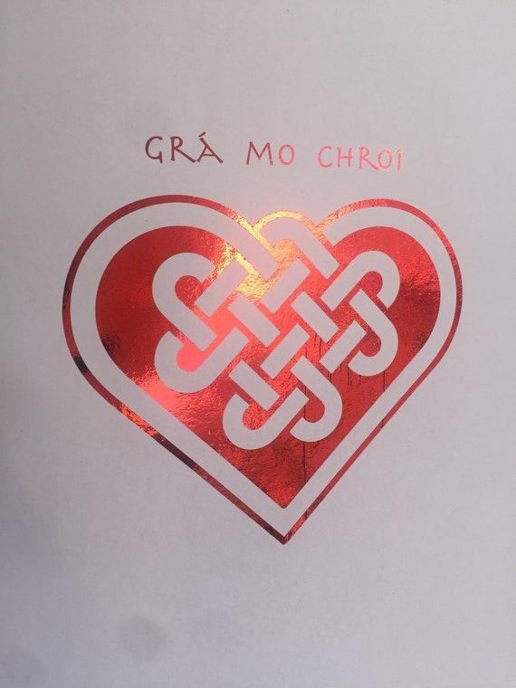 Celtic Knot Love Heart Etsy