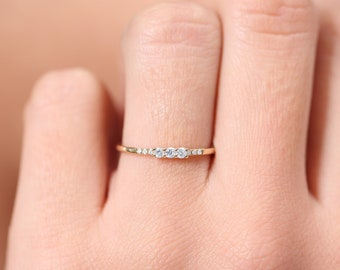 Beautiful Wedding Ring Trio 3 Rings Delicate Jewelry New Gold Plated T 60 Comfortable Feel Other Rings