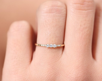 Jewellery & Watches Beautiful Wedding Ring Trio 3 Rings Delicate Jewelry New Gold Plated T 60 Comfortable Feel Fine Jewellery