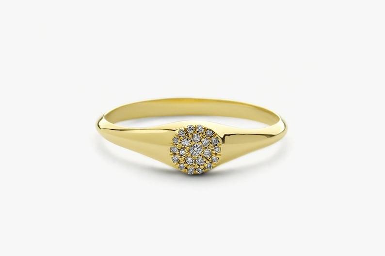 Diamond Signet Ring Jewelry & Watches