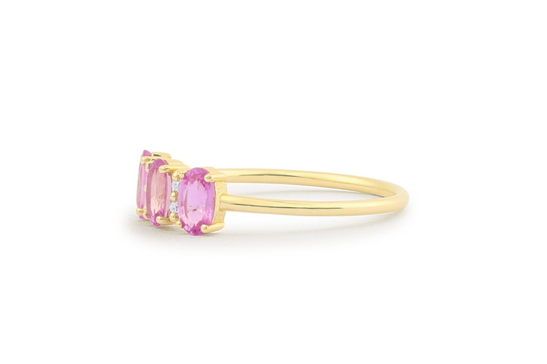 914cd022f Pink Sapphire Ring / 14k Solid Gold Natural Genuine Pink   Etsy