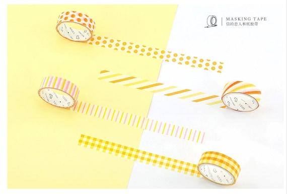 Mandarin Orange Washi Tape Diagonal Stripe Japanese orange desk supply
