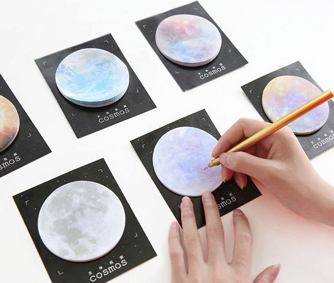Planets Sticky Notes Memo Pad Planner Sticky Notes