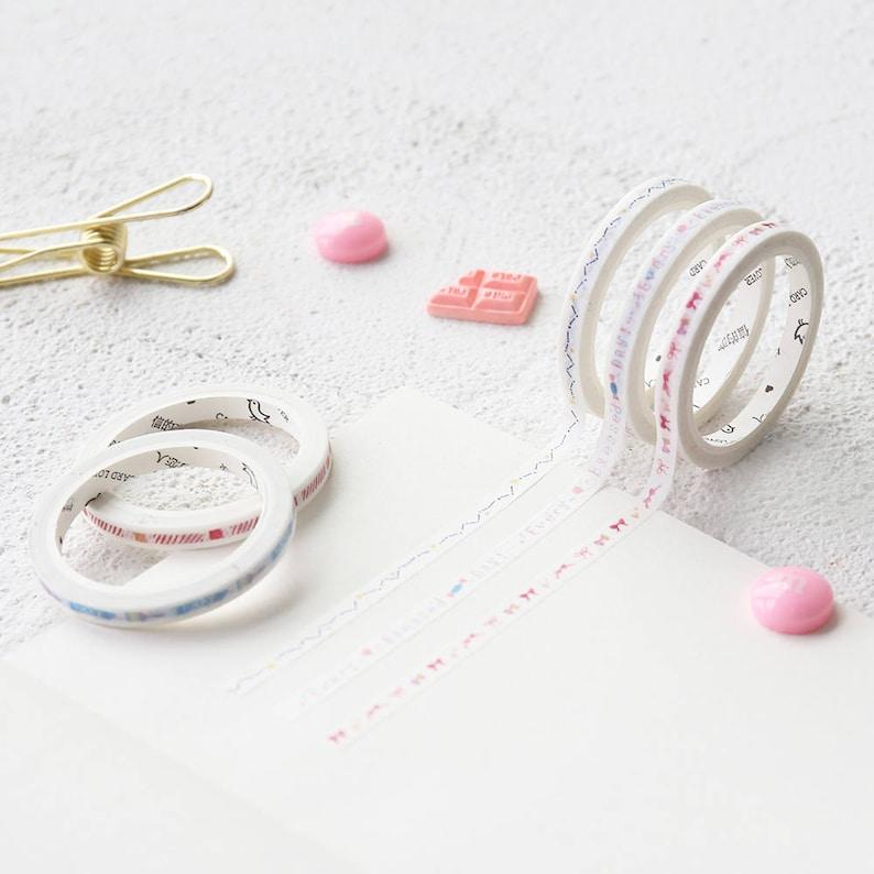 Northern European Design   Simple  Cute Japanese Washi Tape  Bullet Journal Planner Cute Slim Minimalist Washi Tape 5mm*7m