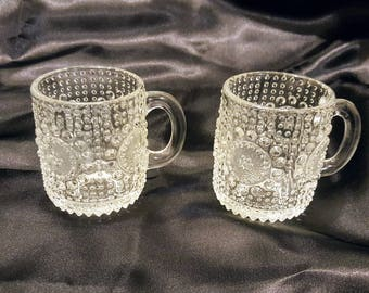 Two Grapponia cups by Nanny Still from Riihimaki Finland. Finnish Glass