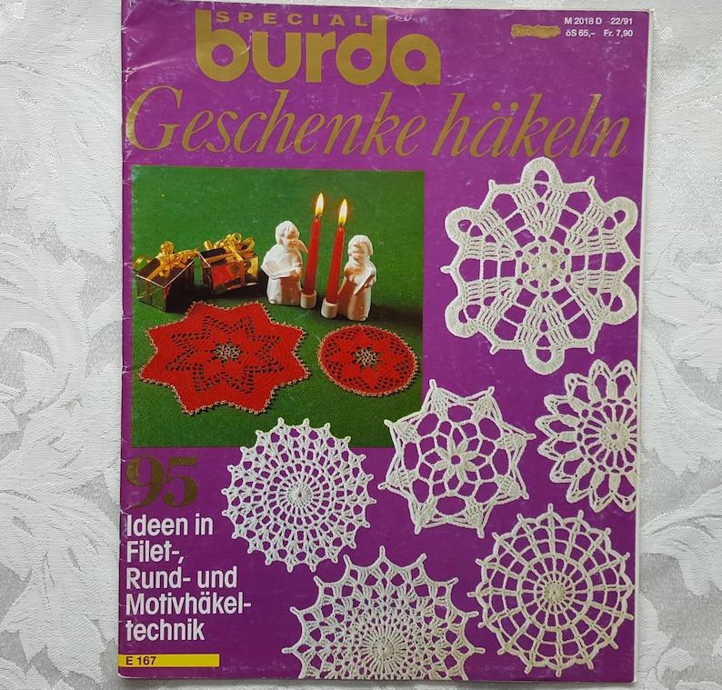 Weihnachtsgeschenke D.Burda Crochet Gift Magazine Geschenke Hakeln In German Language Christmas Crochet Instructions