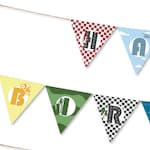 Transportation Party Bunting, INSTANT DOWNLOAD PRINTABLE Kids Transport Transportation Car Truck Theme Birthday Party Banner Bunting Garland