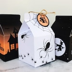 Halloween Treat Boxes, INSTANT DOWNLOAD PRINTABLE Halloween Candy Trick or Treat Party Gift Box Bags Favors Decoration with editable text