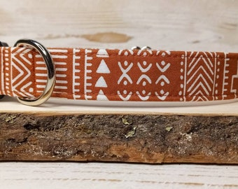 Boho Dog Collar - Rust Copper Dog Collar - Aztec Dog Collar - Cool Dog Collar - Boy Dog Collar