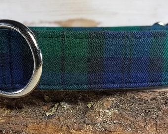 Black Watch Dog Collar - Blue Plaid Dog Collar - Green Plaid Dog Collar - Plaid Dog Collar - Boy Dog Collar