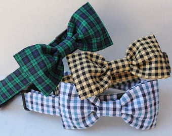 Add matching dog Bowtie - Dog Collar Accessories - Bow Tie - Bowties - Bow Ties For Dogs- You Pick Fabric- Note to seller during checkout.