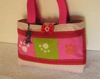 2474ce6fd4 Petit sac à main fillette, style panier en coton réversible, pour les  picnics, les balades, le goûter ou ramasser les œufs de pâques