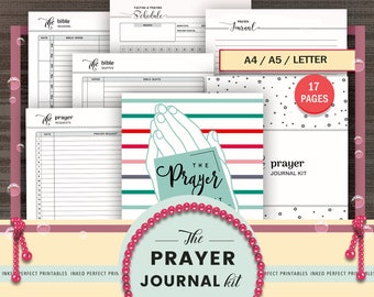 PRAYER JOURNAL KIT, Prayer Planner, Bible Study Journal, Notes, Bible Reading, Quotes, Sunday School, Church Notes, Christainity, Fasting