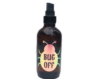 Bug Off Label - Bug Spray - Insect Repellent Label - Essential Oils Label