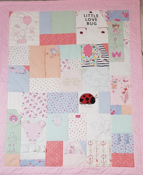 2c438fa01cac patchwork memory quilt memory blanket personalised baby