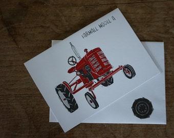 Farmall Model A // Tractors // Greetings Card