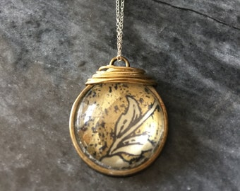 Gold print gold plated wire sterling silver chain