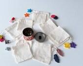 Washable tea bag - reusable - Zero waste - batch of 2 sachets