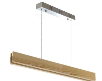Pendant lamp WOOD SUSPEND, 20w, CRI95. Led ceiling lamp. Wooden ceiling lamp. Wooden pendant lamp.