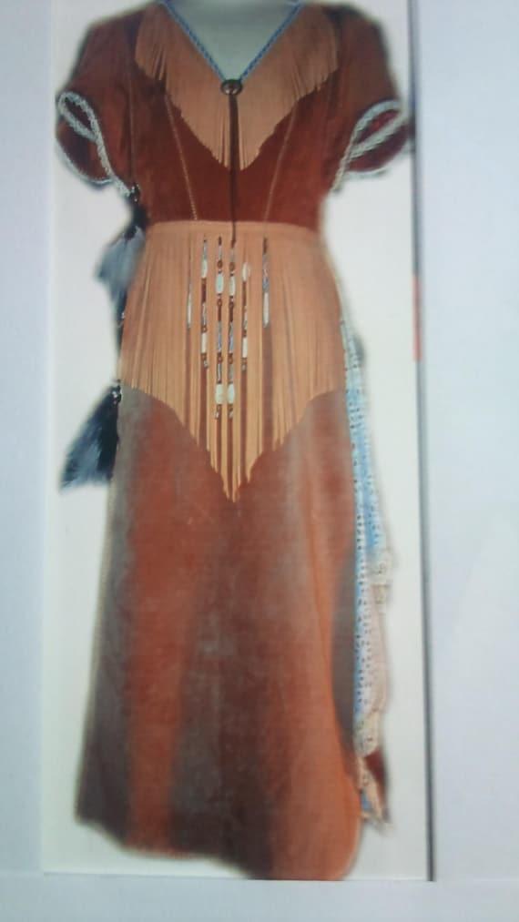 Robe Melange De Style Amerindien Et Country Etsy