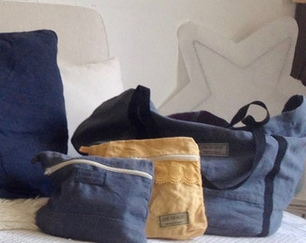 Pouch linen 20 x 18 - Boer - Made in France