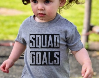 206319c05 SQUAD GOALS tshirt *KIDS Sizes* Matching parent and child clothes, mum and  baby, t-shirts, matching outfits, squad goals