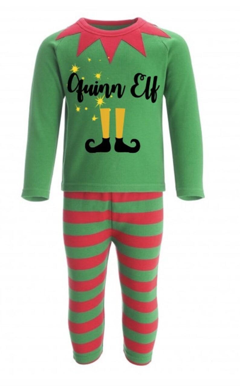 Personalised elf pyjamas Personalised Christmas Pyjamas  1851e4dfa