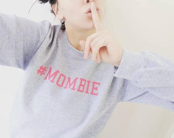 MOMBIE college sweater, VARIOUS colours available! #mombie jumper, #mombie top, #mombie sweater