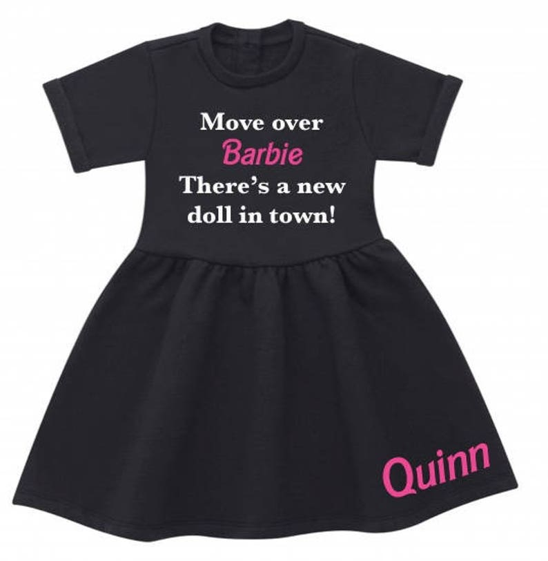 personalised BARBIE inspired dress theres a new doll in town move over barbie