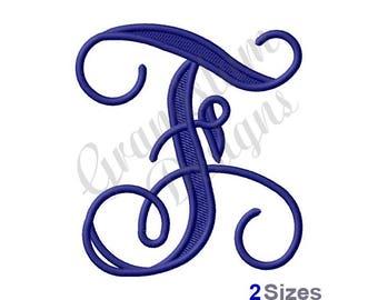 Vining Monogram Letter F