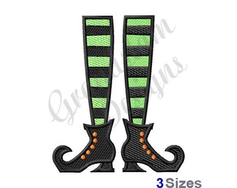 33825b5cc Witch Boots - Machine Embroidery Design