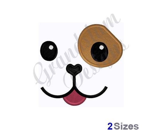 Spot Dog Doll Face Machine Embroidery Design Etsy