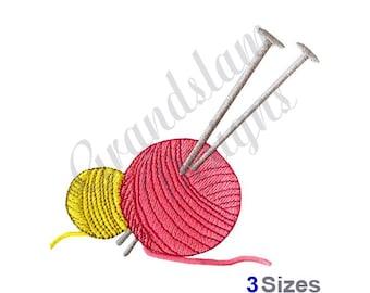 Needles & Yarn - Machine Embroidery Design